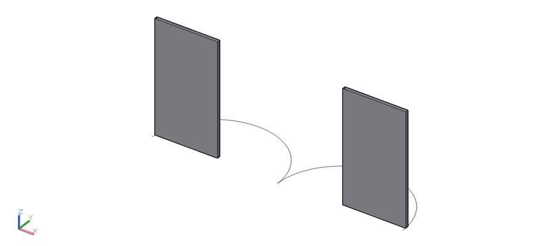 puerta doble en 3d (3 dimensiones) modelo 09