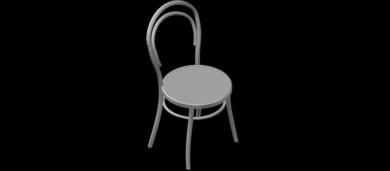 silla clásica con respaldo en 3 dimensiones