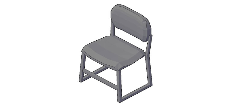 Bloques autocad gratis de silla en 3 dimensiones modelo 01 for Sillas para hospital