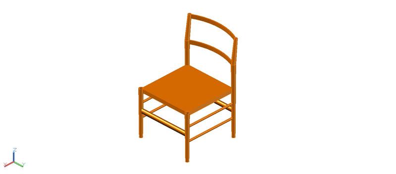silla en 3 dimensiones, modelo 02