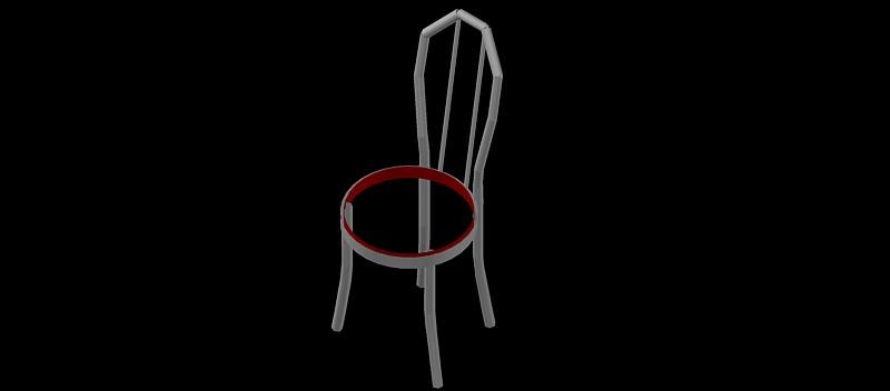 silla en 3 dimensiones, modelo 05