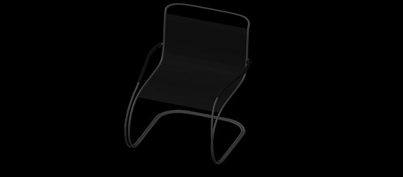 silla en 3 dimensiones, modelo 06