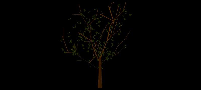 árbol en 3 dimensiones, vegetación 3d-12