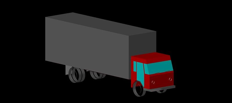 camión en 3d (3 dimensiones) modelo 01