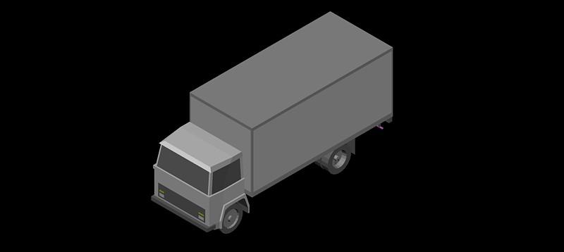 camión en 3d (3 dimensiones) modelo 03