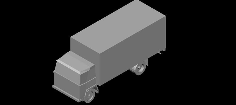 camión en 3d (3 dimensiones) modelo 04