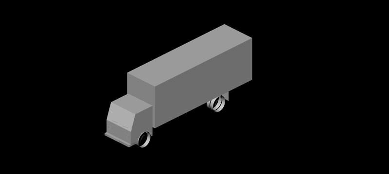 camión en 3d (3 dimensiones) modelo 05