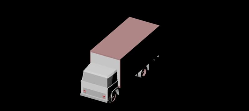 camión en 3d (3 dimensiones) modelo 06