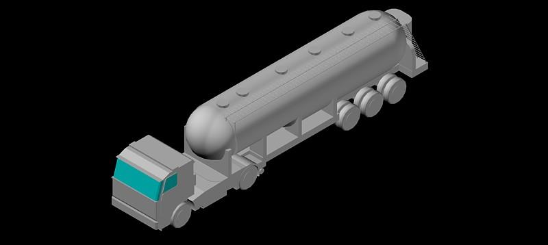 camión cisterna en 3d (3 dimensiones)