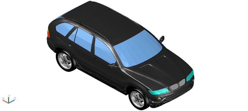 BMW X5 en 3d (3 dimensiones)
