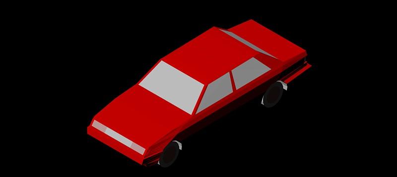 coche en 3d (3 dimensiones) modelo 01