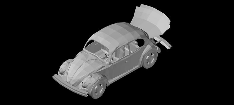 Volkswagen Beetle en 3d (3 dimensiones)
