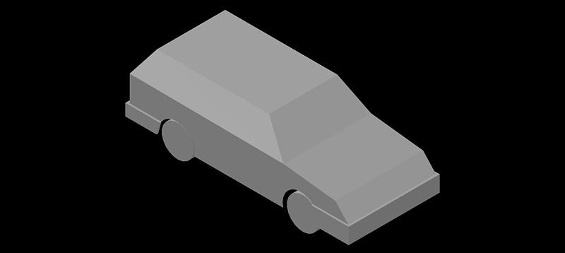 Coche en 3d (3 dimensiones) modelo 02