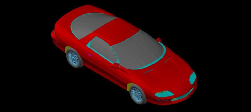 Coche Camaro en 3d (3 dimensiones)