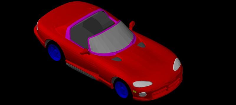 Dodge Viper en 3d (3 dimensiones)