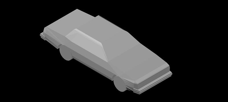 coche en 3d (3 dimensiones) modelo 04