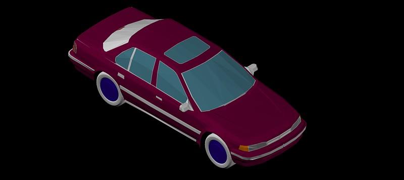 coche en 3d (3 dimensiones) modelo 05