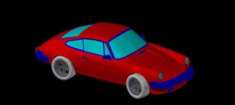 Porche 911 en 3d (3 dimensiones) modelo 02