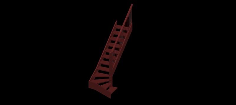 escalera compensada en 3d (3 dimensiones)