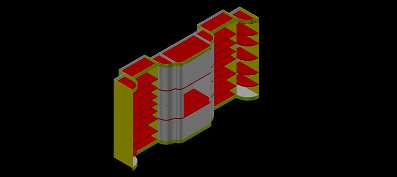 mueble estantería en 3d (3 dimensiones)