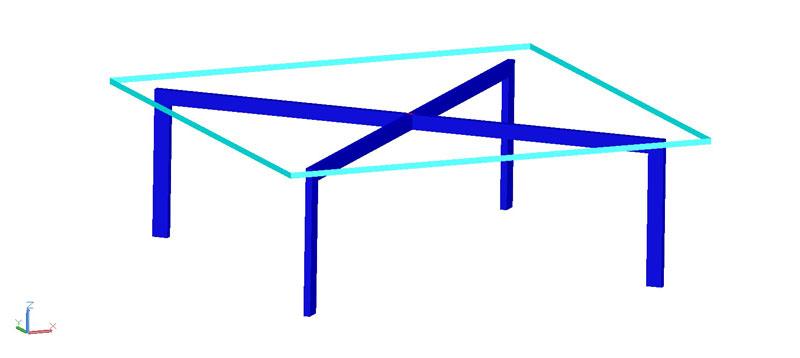 mesa auxiliar o de centro en 3d (3 dimensiones) modelo 01