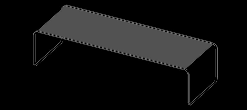 mesa auxiliar o de centro en 3d (3 dimensiones) modelo 02