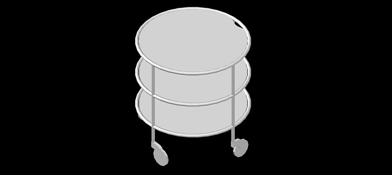mesa auxiliar o de centro en 3d (3 dimensiones) modelo 03