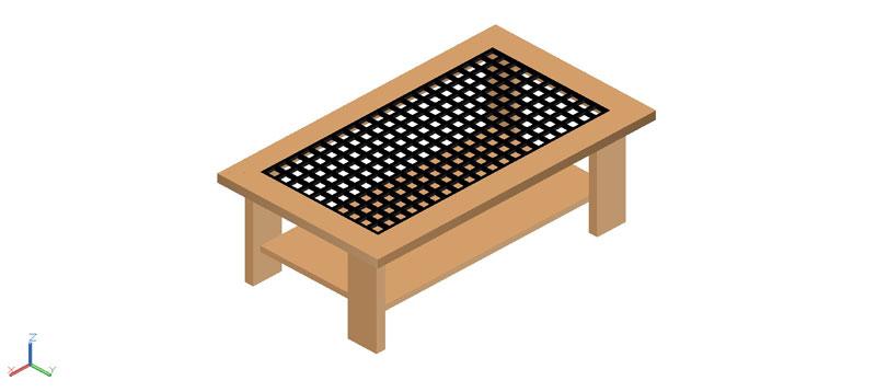 mesa auxiliar o de centro en 3d (3 dimensiones) modelo 04