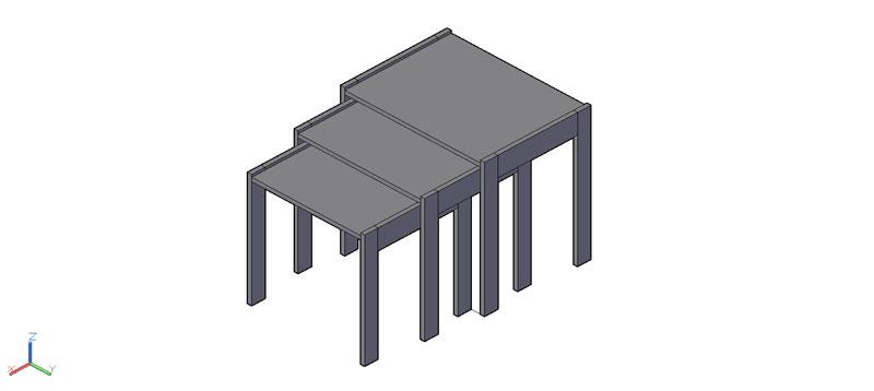 mesa auxiliar o de centro en 3d (3 dimensiones) modelo 05