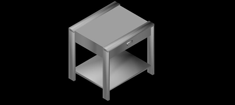 mesilla de noche en 3d (3 dimensiones) modelo 01