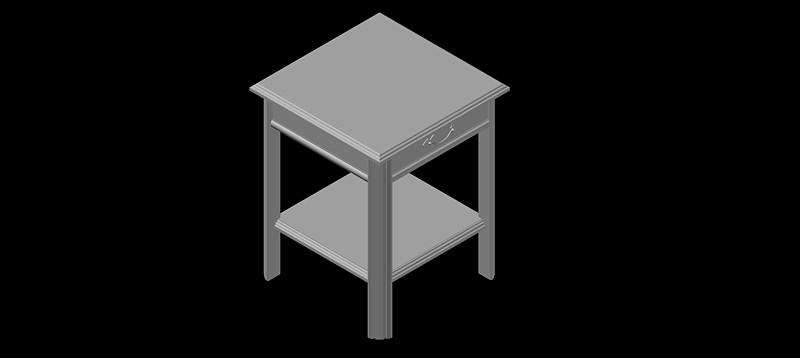 mesilla de noche en 3d (3 dimensiones) modelo 03
