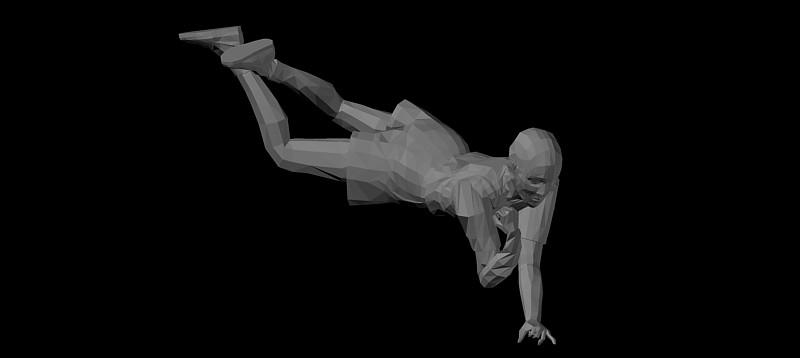 persona acostada en 3d (3 dimensiones)