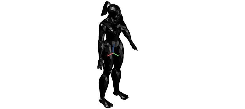 mujer de pié en 3d (3 dimensiones)