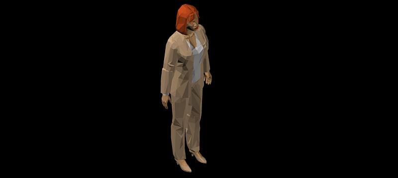figura de mujer ejecutiva en 3d (3 dimensiones)