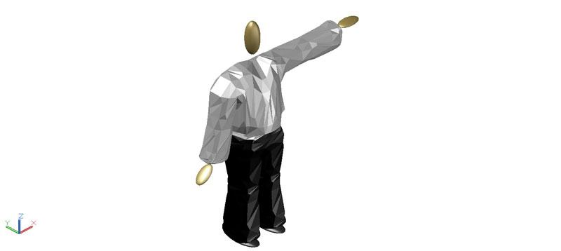 figura esquemática masculina en 3d (3 dimensiones)