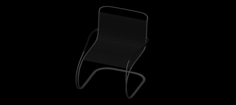 silla en 3d (3 dimensiones) modelo 01