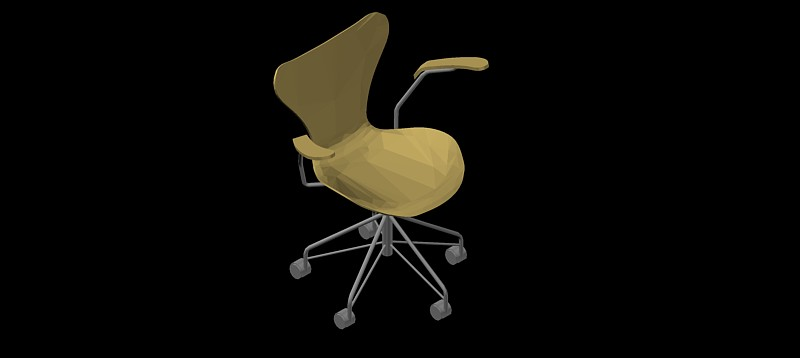 silla en 3d (3 dimensiones) modelo 02