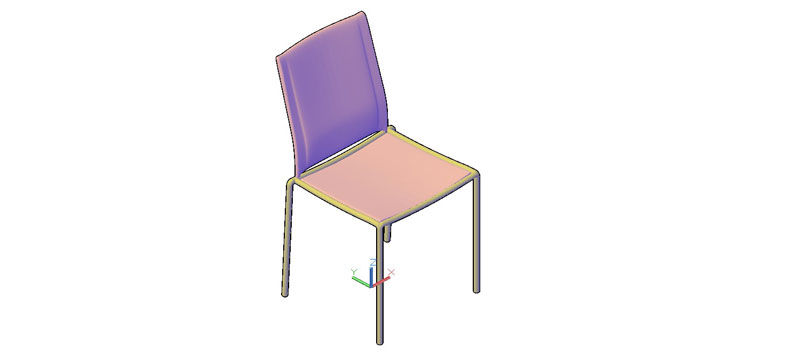 silla en 3d (3 dimensiones) modelo 03