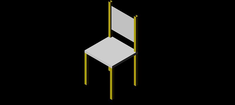 silla en 3d (3 dimensiones) modelo 04