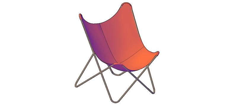 silla en 3d (3 dimensiones) modelo 05