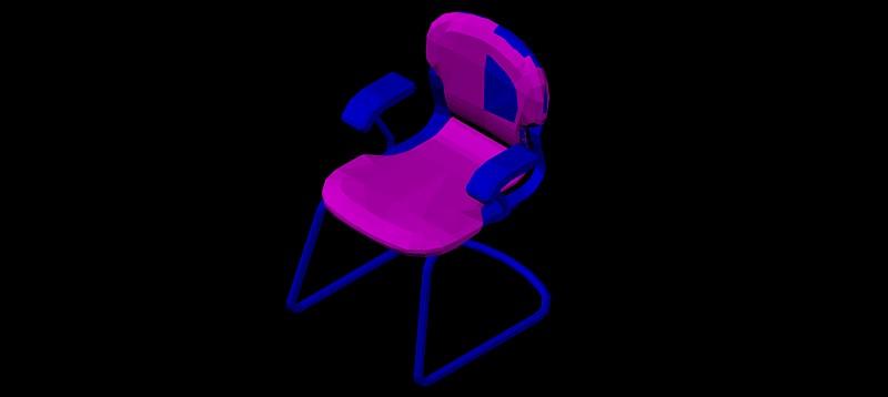 silla en 3d (3 dimensiones) modelo 07