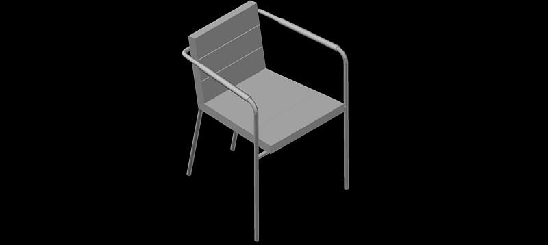 silla en 3d (3 dimensiones) modelo 08