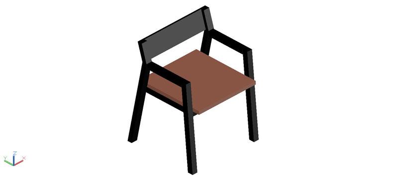 silla en 3d (3 dimensiones) modelo 09