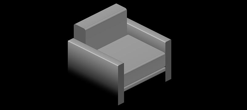 Sillones en 3d (3 dimensiones) modelo 01