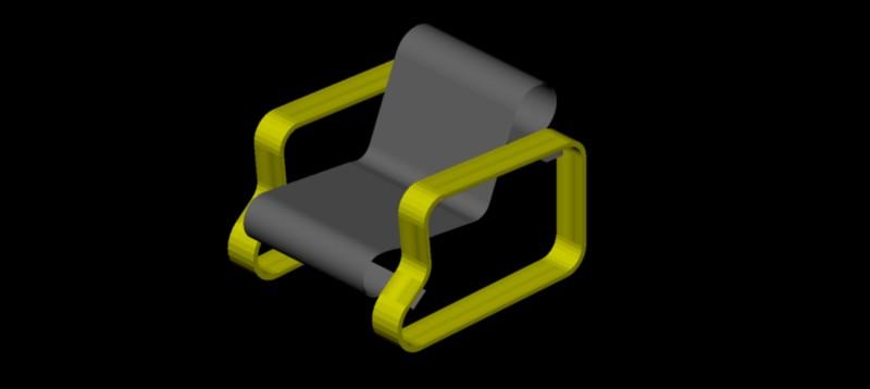 sillón en 3d (3 dimensiones) modelo 04