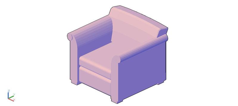 sillón en 3d (3 dimensiones) modelo 05