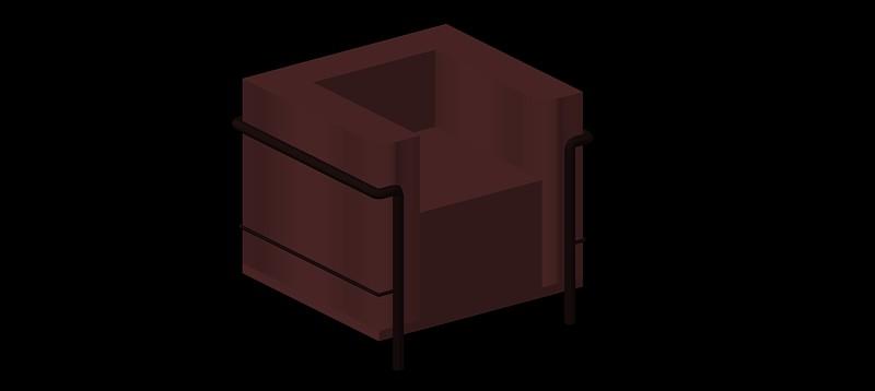 sillón Le Corbusier LC2 en 3d (3 dimensiones)