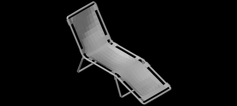 tumbona - hamaca en 3d (3 dimensiones)