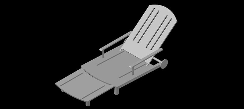 tumbona - hamaca en 3d (3 dimensiones) modelo 02