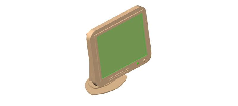 pantalla plana computadora en 3d (3 dimensiones)